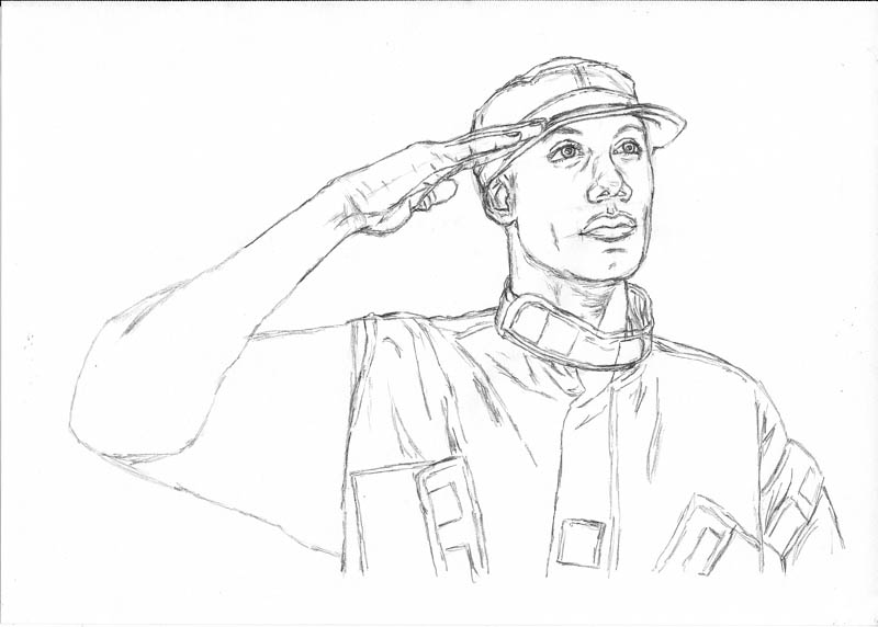800x572 How To Draw An Army Man Saluting Let's Draw People