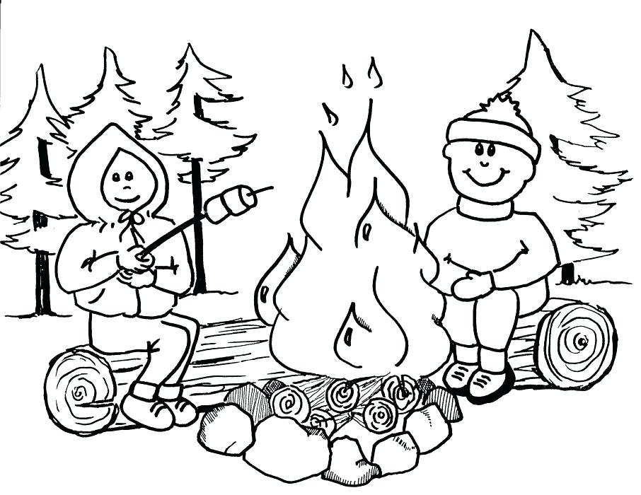906x700 Summer Camp Coloring Pages Summer Camp Coloring Pictures Convobox.co