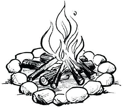 400x346 Campfire Coloring Pages Campfire Coloring Pages Fire Building Free