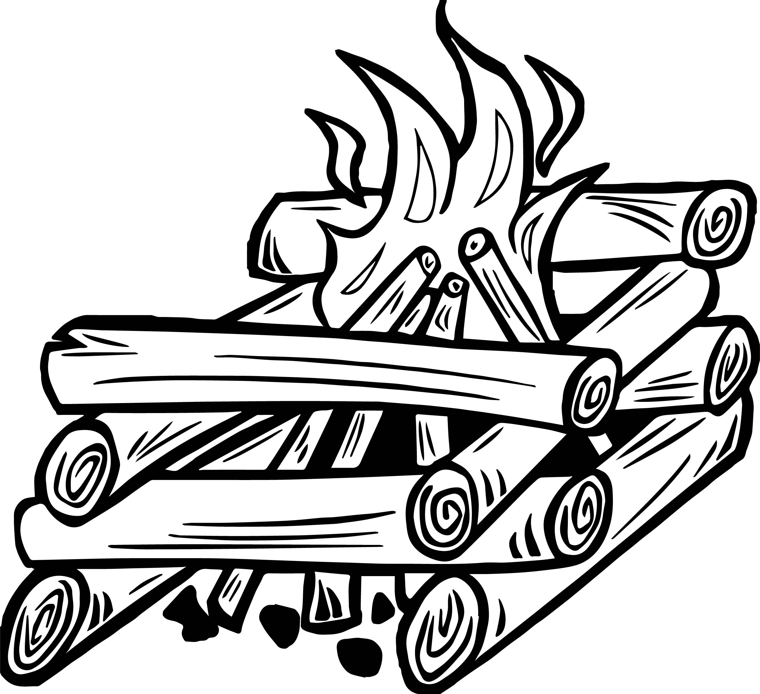 2507x2290 Campfire Fire Gif Coloring Page Wecoloringpage