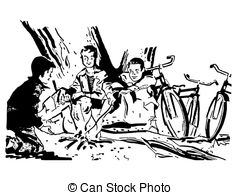 240x195 People Around Campfire Clipart And Stock Illustrations 48