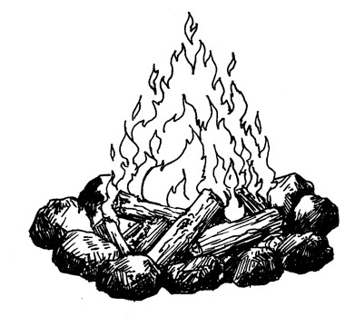 Camp Fire Drawing At Getdrawings Com