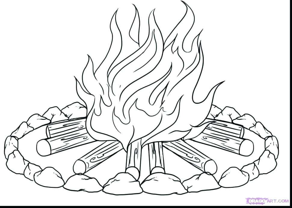 971x691 Campfire Coloring Page Coloring Pages Fire Coloring Page Fire