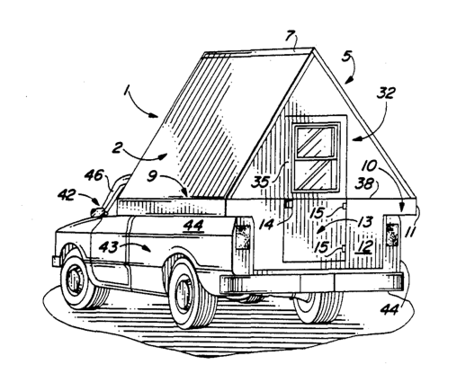 508x425 Starling Travel A Frame Camper For Pickup Trucks