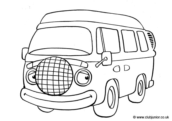 600x424 Vw Camper Van Colouring Pages