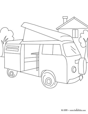 364x470 Camper Bus Coloring Pages