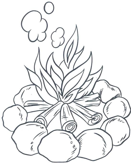 547x680 Camping Coloring Page Campfire Camping Coloring Pictures