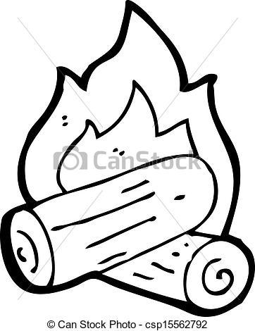 362x470 Drawn Campire Wood Fire