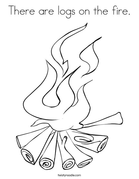 468x605 Fire Coloring Page Campfire Coloring Page