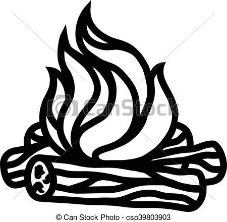 450x440 Fire Campfire Burn Wood Light Camp Heat Flames Flame Stock