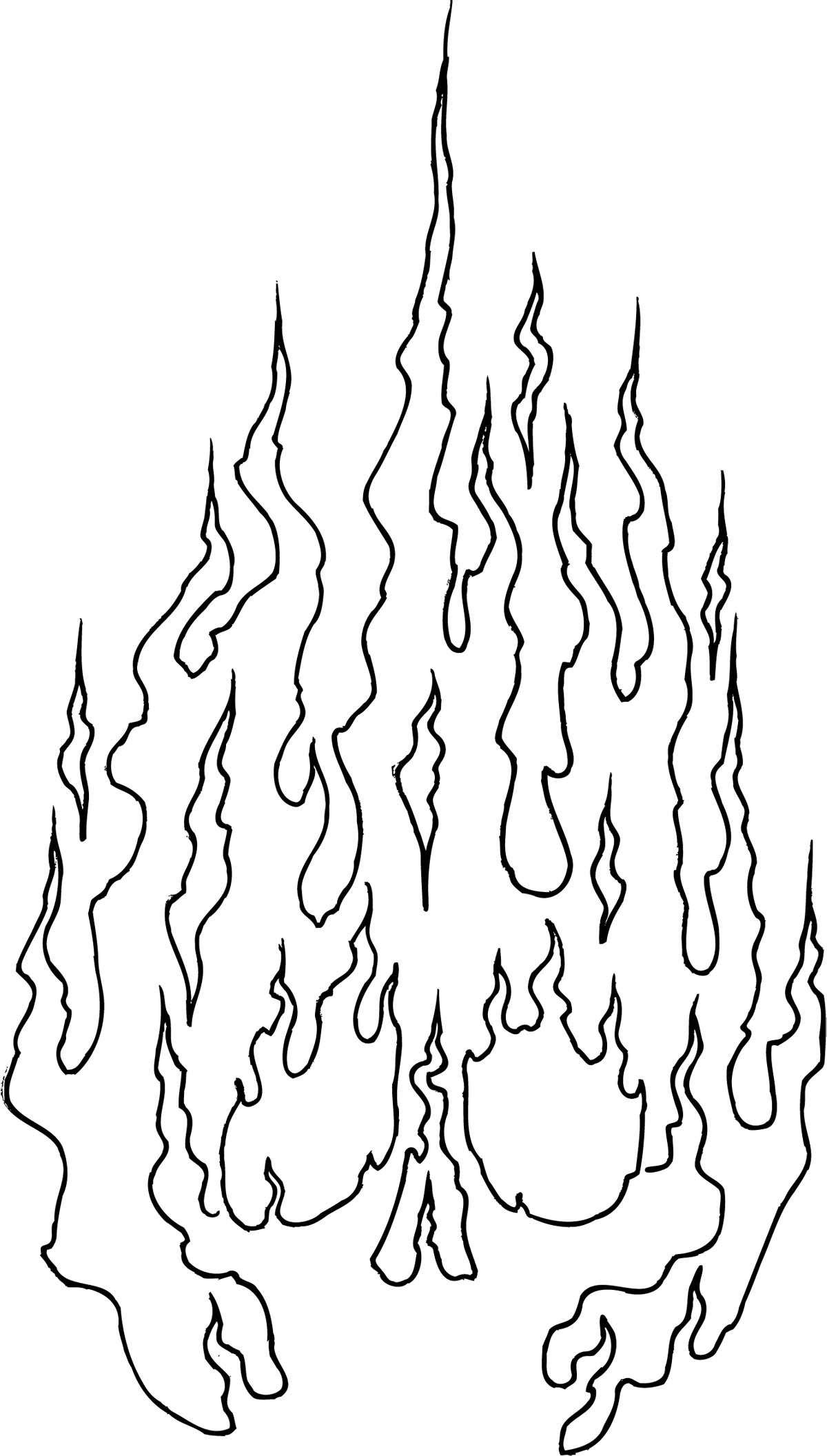 1200x2112 Flame Coloring Pages