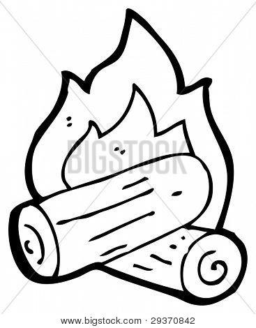 367x470 Campfire Cartoon (Raster Version) Image Amp Photo Bigstock