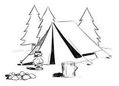 236x171 Free Drawing Of Camp Draw It Easy Camping, Crafty