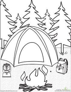 236x305 Camping! This One's So Cute. A Couple Of Free Summer Coloring