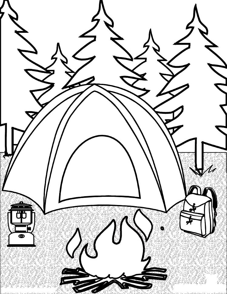 748x968 Camping Coloring Pages Preschool In Snazzy Draw Page Kids