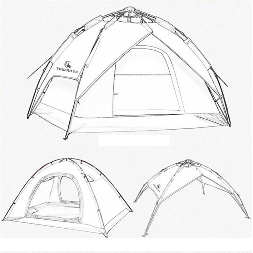 Camping Tent Drawing