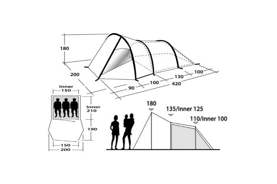 900x600 Camping Tent Outwell Vigor 3