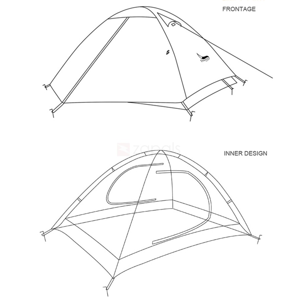 1024x1024 Desertfox Waterproof Double Layer 2 Person Dome Tent For Camping