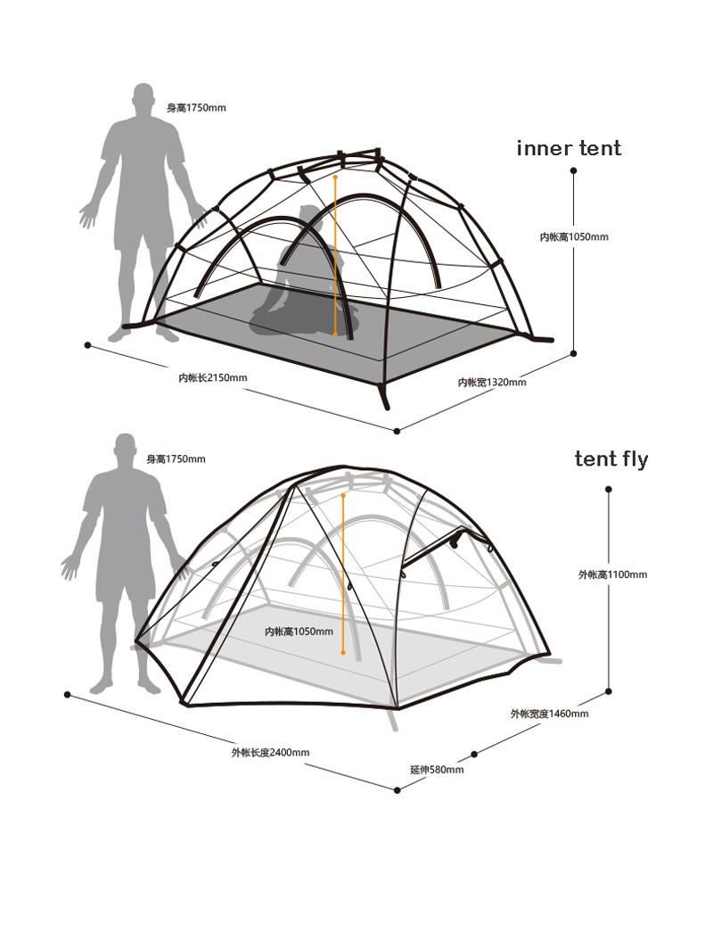 800x1065 Naturehike 2 Person Camping Tent Waterproof Hiking Tent Double