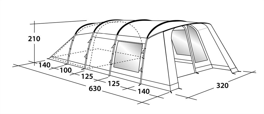 1024x444 Whitecove 5 Tent 2018, Family Camping Tent