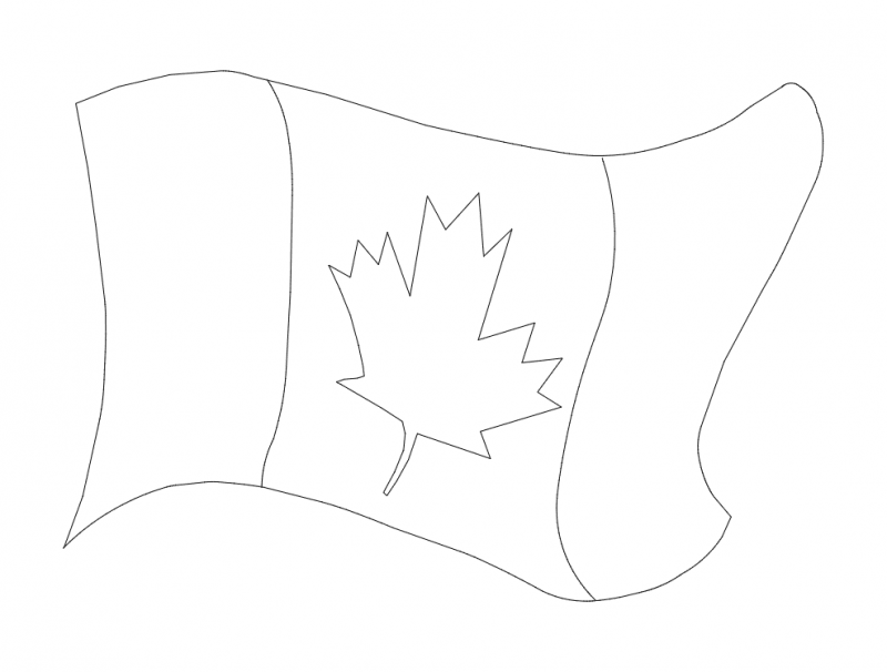 800x606 Canada Flag Dxf File Free Download