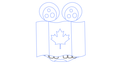382x215 How To Draw Canadian Flag, World, Easy Step By Step Drawing Tutorial