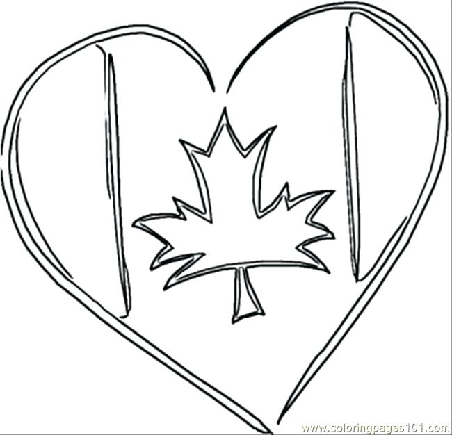 650x626 Canadian Flag Coloring Page Synthesis.site