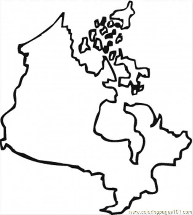 how to draw canada map