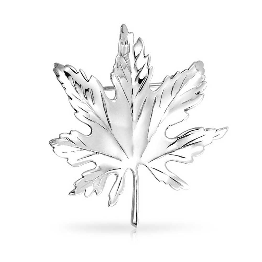 1000x1000 925 Silver Kate Middleton Canada Day Maple Leaf Pin Brooch