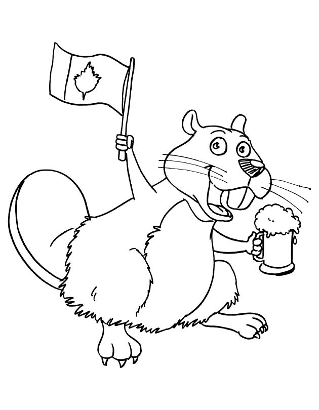 630x810 Canadian Beaver Coloring Page Download Free Canadian Beaver