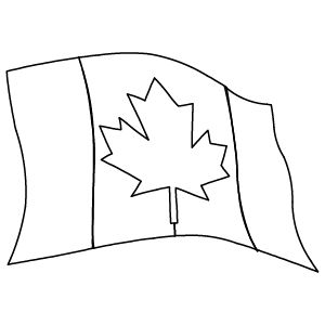 Canadian Flag Drawing