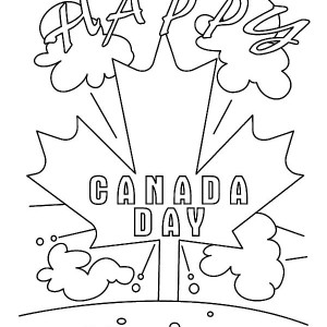 300x300 Free Printable Canada Day Coloring Pages