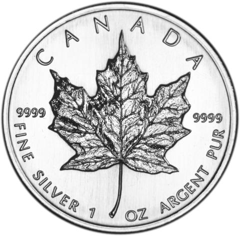 480x473 Canadian Silver Maple Leaf Mount Vernon Coin
