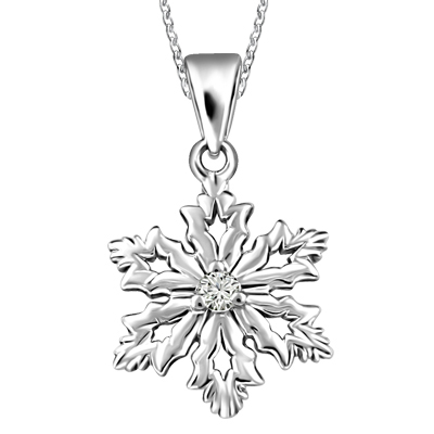 400x400 Gold Star Jewellers Canadian Snowflake Pendant