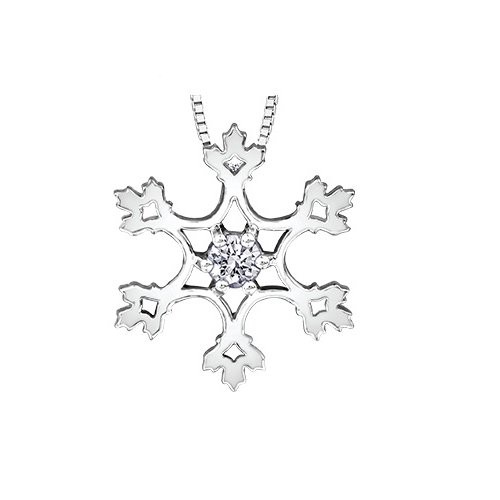 500x500 Buy White Gold Diamond Snowflake Pendant Online In Canada