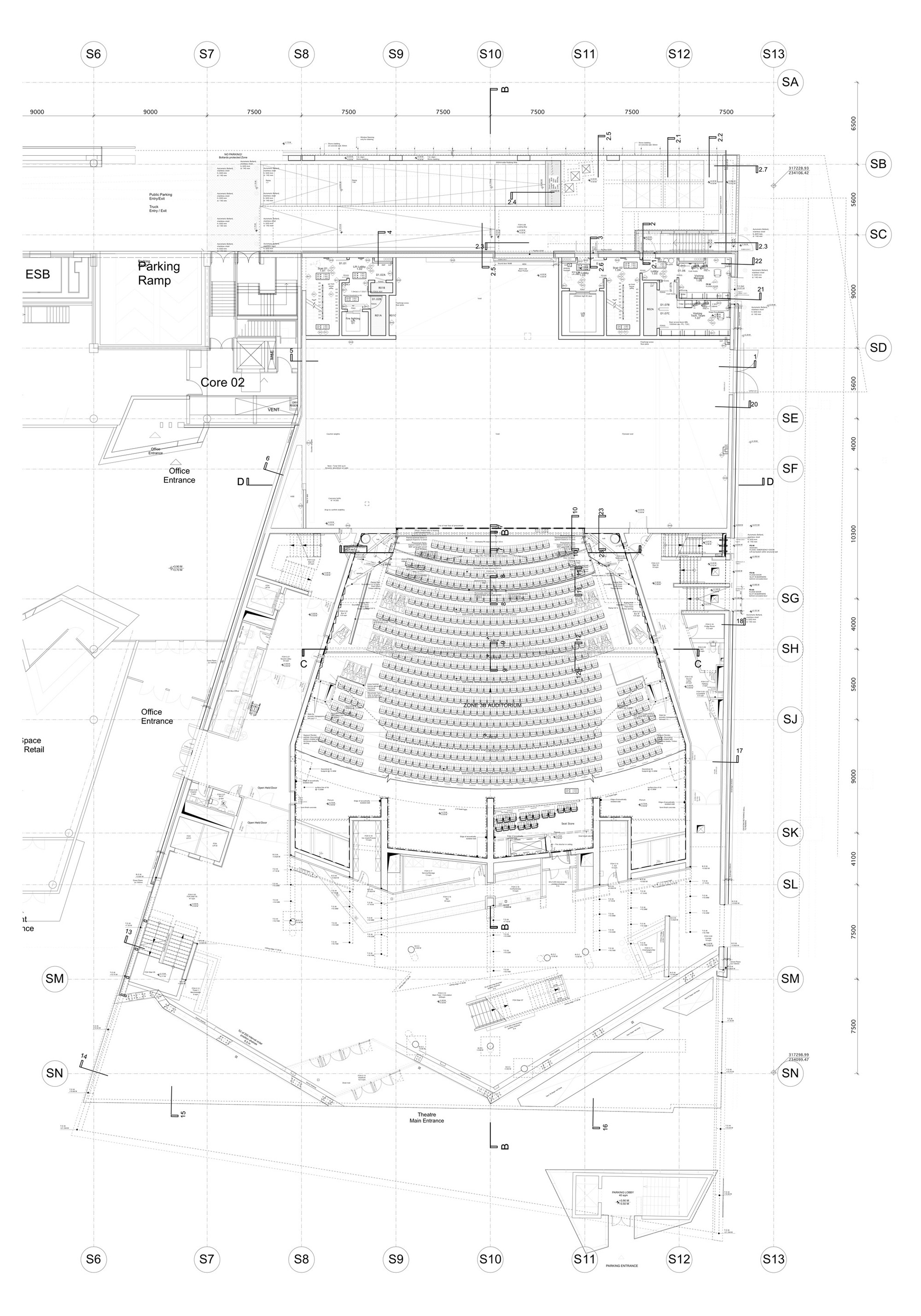 2000x2857 Gallery Of Grand Canal Theatre Studio Libeskind