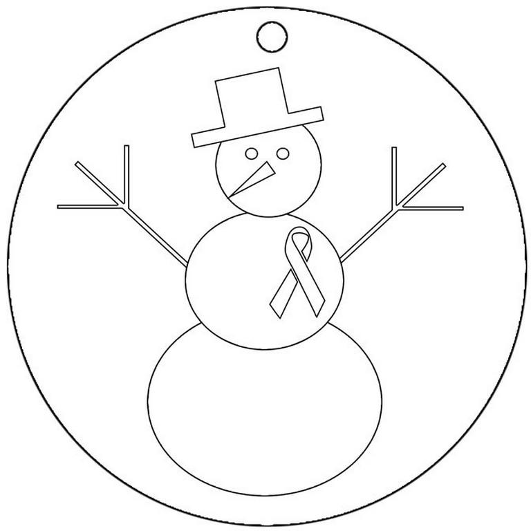 768x768 Cancer Sign Coloring Pages Ribbon Page