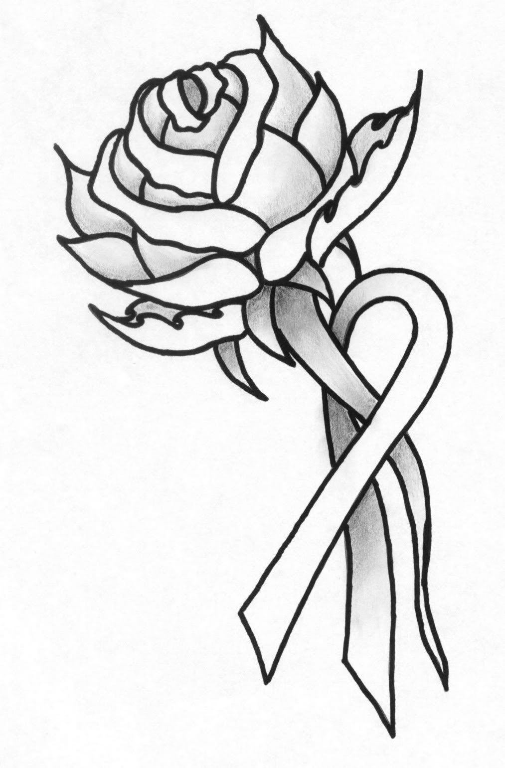 Cancer Ribbon Drawing At Getdrawings Free For Personal Use