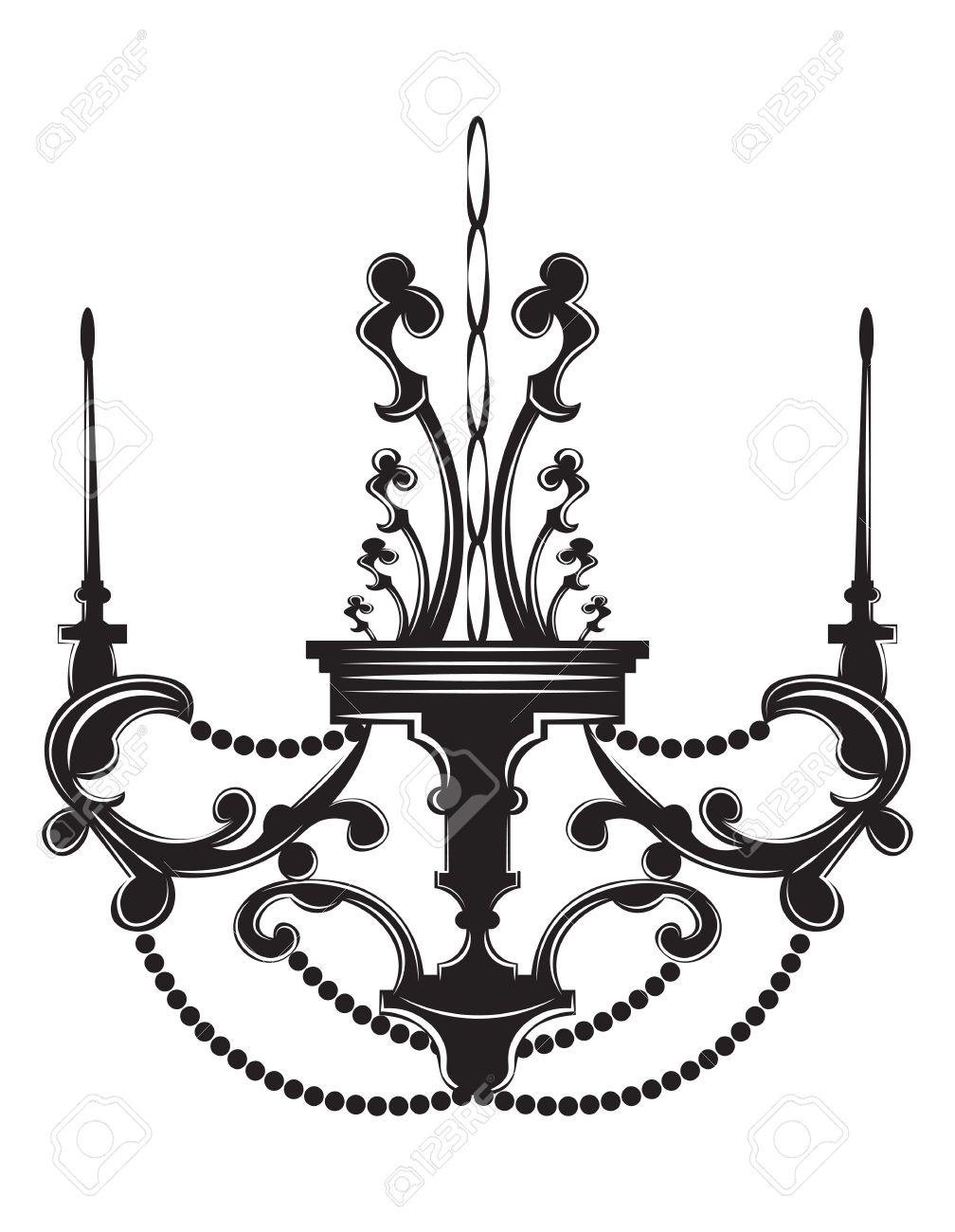 1008x1300 Baroque Elegant Lamp Vintage Ornamented. Vector Luxury Royal
