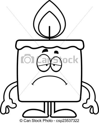 378x470 Sad Cartoon Candle. A Cartoon Illustration Of A Candle Vector