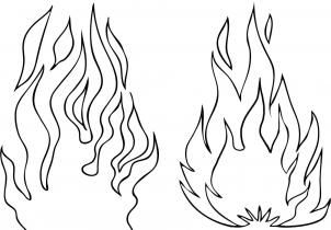 302x210 How To Draw Flames Step 4 Zentanglecoloring Pages