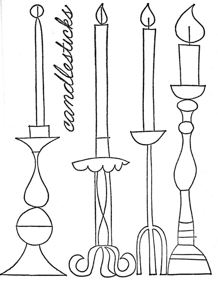 Candle Holder Drawing