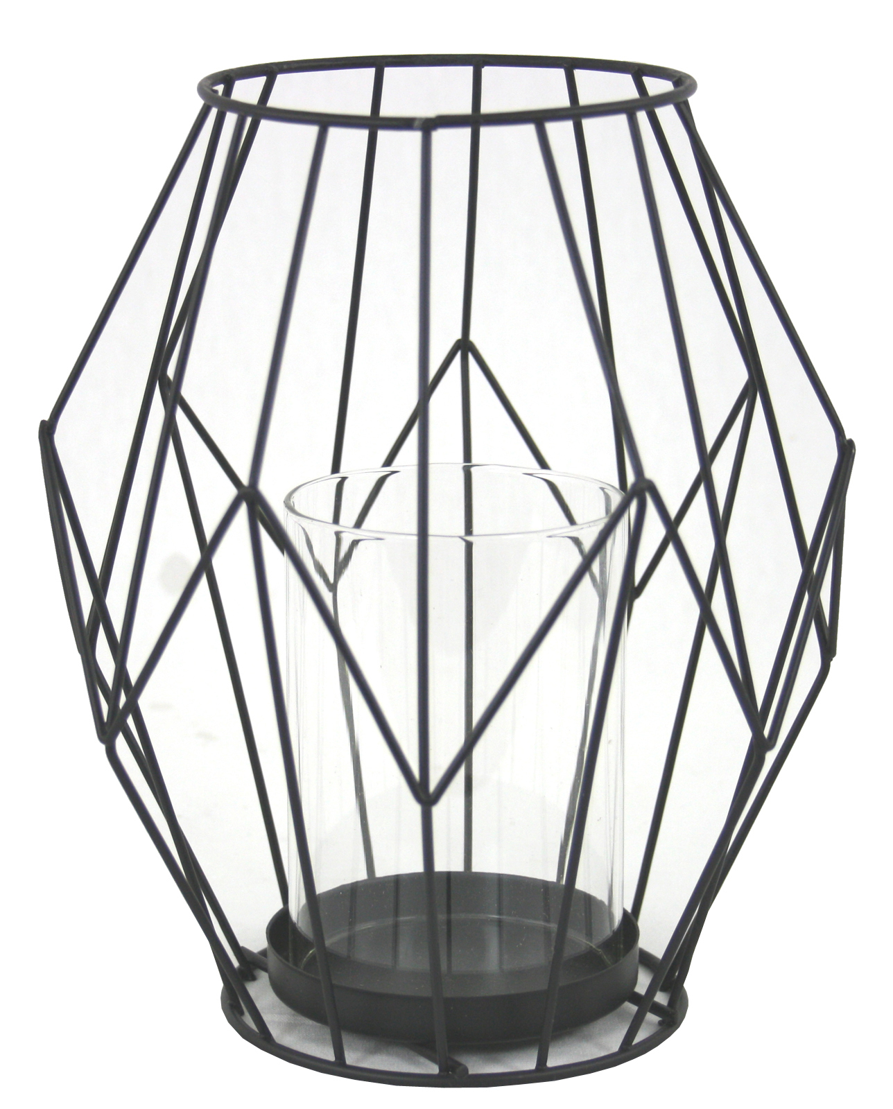1288x1600 Black Wire Geometric Candle Holder,
