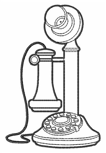 347x500 Candlestick Telephone Outline Embroidery Design Annthegran