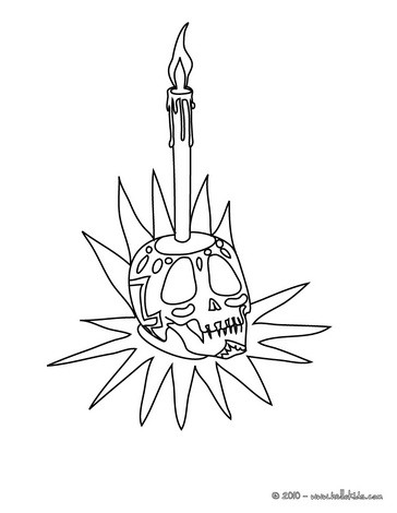 364x470 Scary Candlestick Holder Coloring Pages