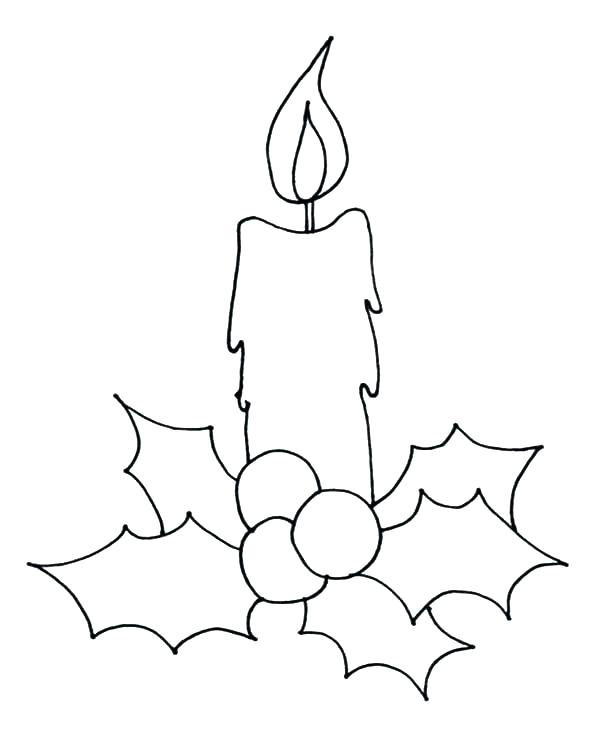 600x745 Candle Coloring Sheet Codetracer.co