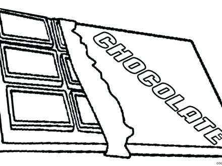 440x330 Beautiful Chocolate Bar Coloring Page Image
