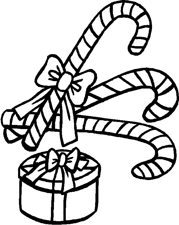 604x760 Candy Cane Coloring Pages And Christmas Gift