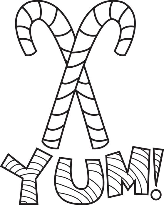 558x700 FREE Printable Candy Canes Coloring Page For Kids