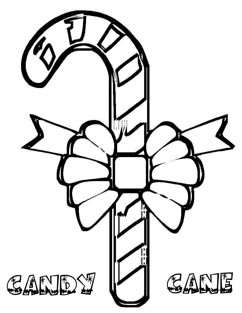816x1056 Free Printable Candy Cane Coloring Pages For Kids
